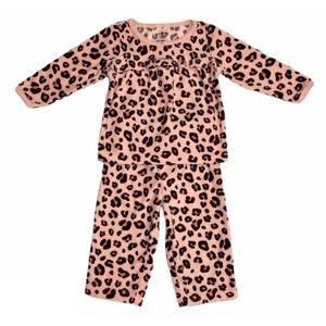Baby girl leopard print pajamas